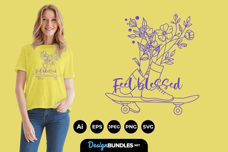 Skateboarding Botanical Legs for T-Shirt Design example image 1