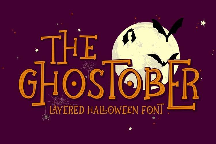 Ghostober | Halloween Layered Font example image 1