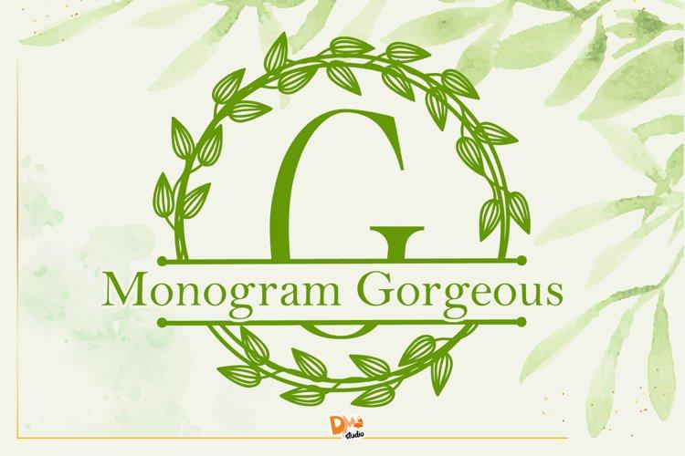 Monogram Gorgeous Font example image 1