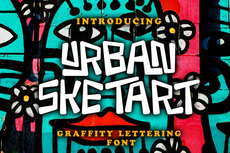 Urban Sketart - Creative Graffiti Lettering Font example image 1