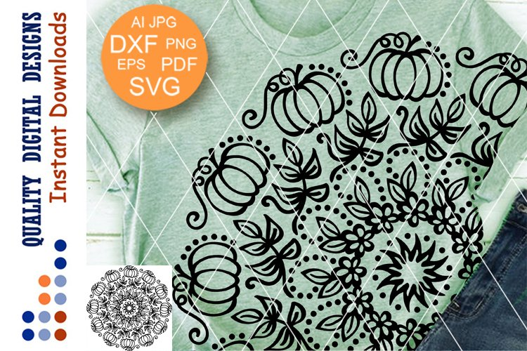 Mandala Thanksgiving Pumpkin clipart SVG files for Cricut