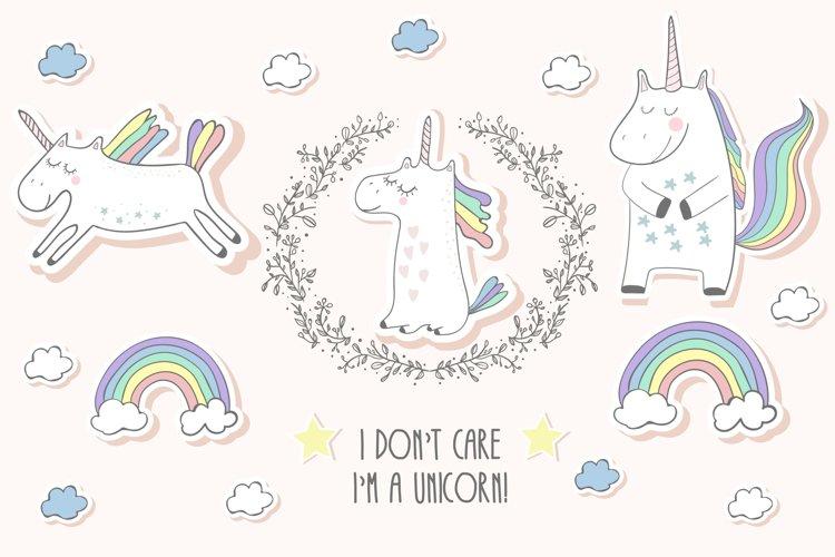 Unicorns set - Free Design of The Week Font