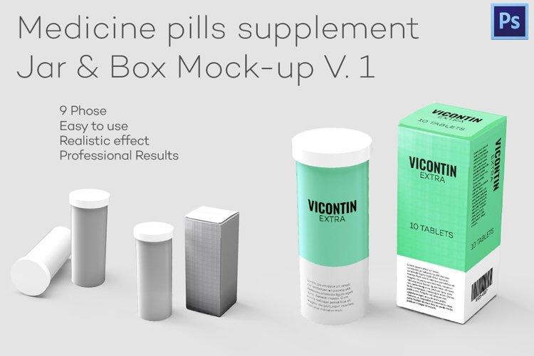 Pills supplement - Jar & Box Mock-up example image 1