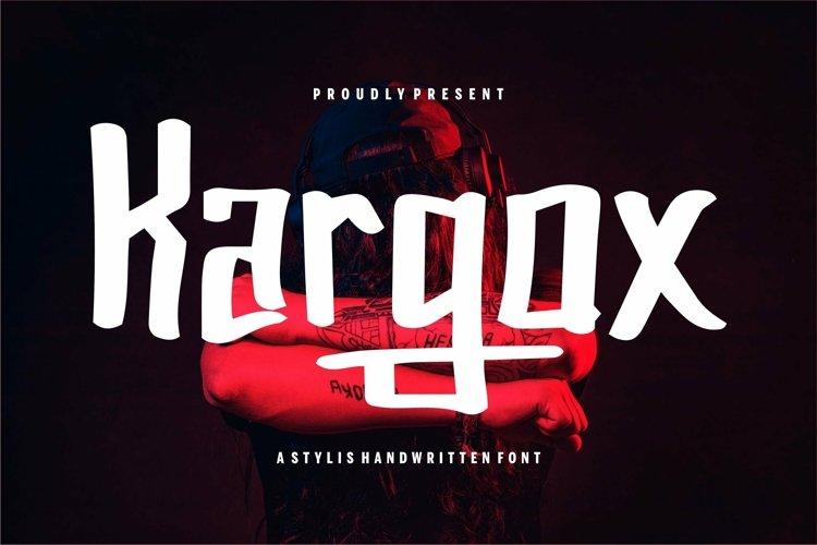 Web Font Kargox - A Stylish Handwritten Font example image 1
