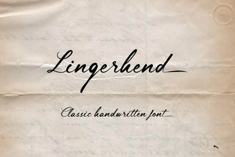 Lingerhend - Classic Script Font example image 1
