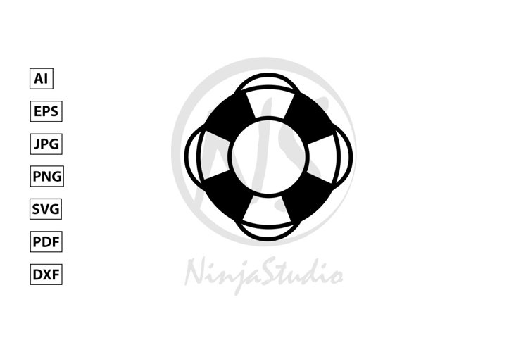 Lifebuoy Icon In Flat Style Vector example image 1