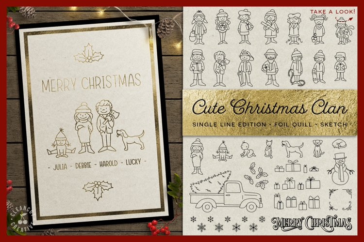 Foil Quill Edition - Cute Christmas Clan - family figures example image 1