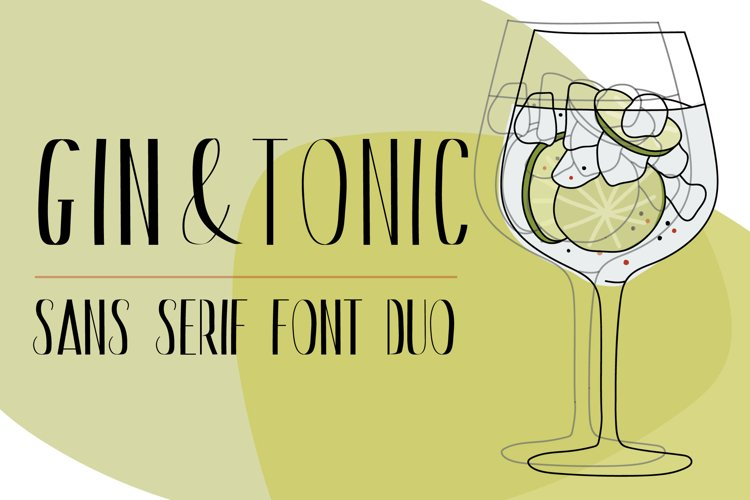 Gin And Tonic   Sans Serif Font Duo example image 1