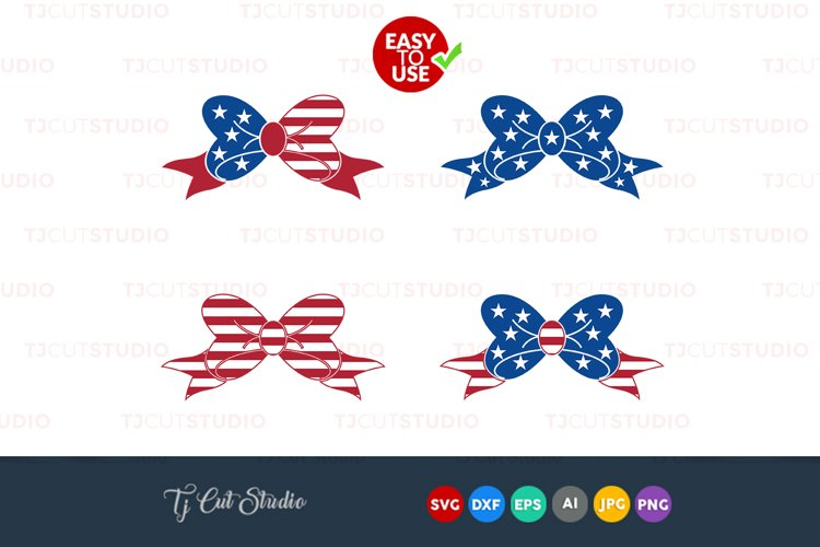 Bow svg svg, 4th of july bow svg, 4th of July svg, Files for Silhouette Cameo or Cricut, Commercial   Personal Use.
