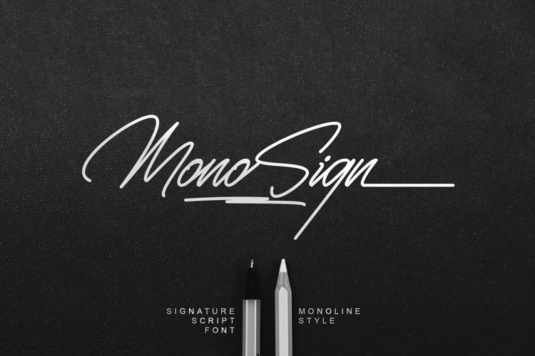 Monosign - Monoline Signature Font