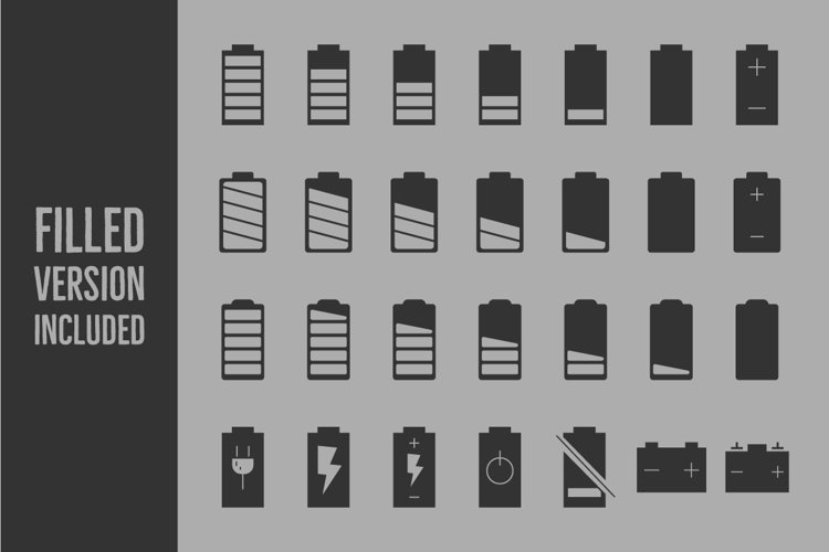 Battery Level Icons example 2