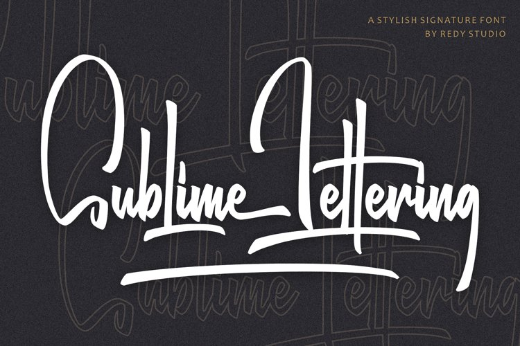 Sublime Lettering example image 1