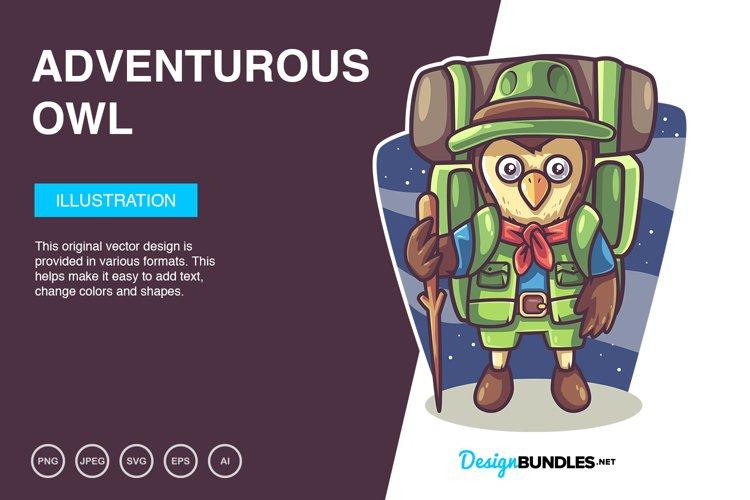 Adventurous Owl Vector Illustration