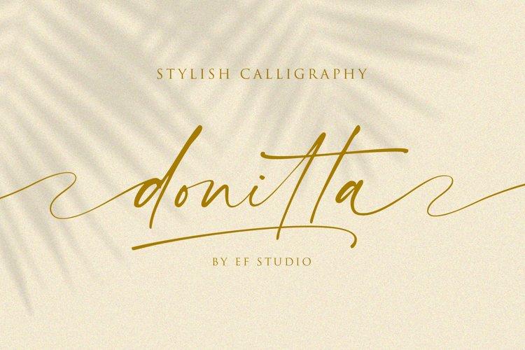 donitta | Stylish Calligraphy
