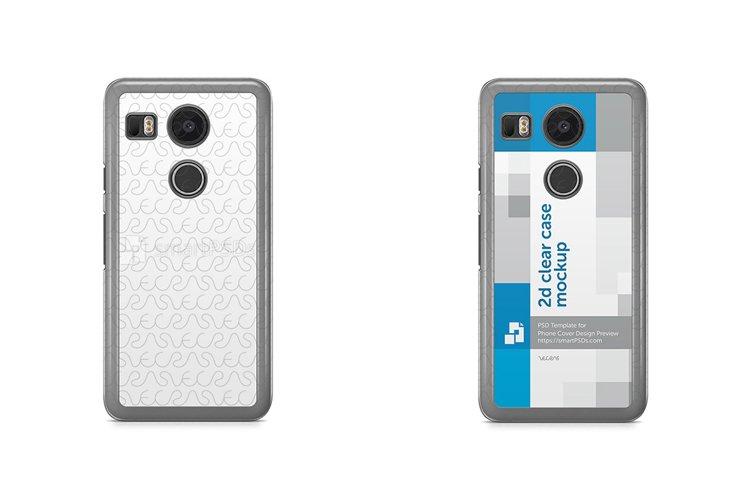 Google Nexus 5X 2d Clear Mobile Case Design Mockup 2015 example image 1