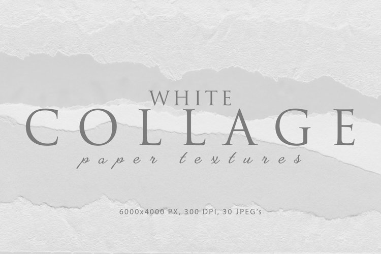 Collage White Paper Textures example image 1