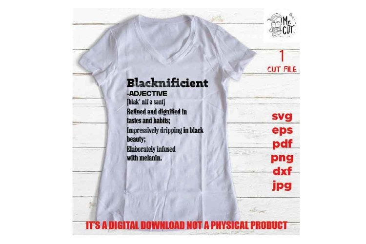 blacknificient definition svg, facts svg, Black Queen, example image 1