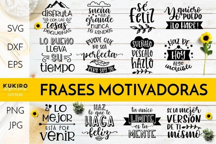 FRASES MOTIVADORAS SVG BUNDLE - Inspirational Cut files