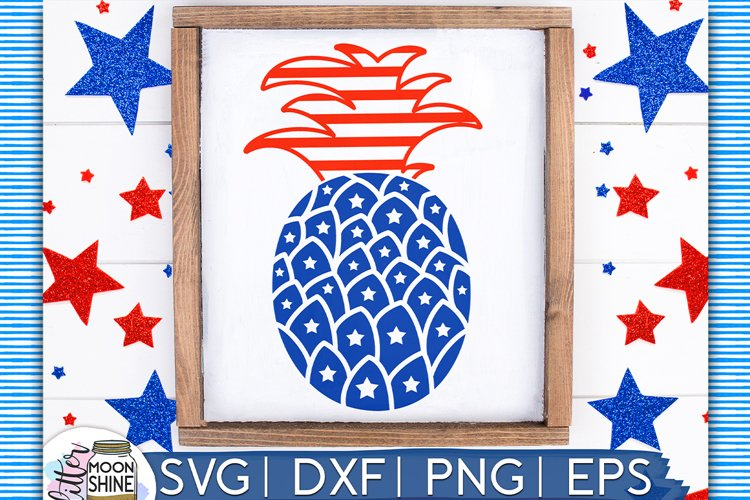 Patriotic Pineapple SVG DXF PNG EPS Cutting Files