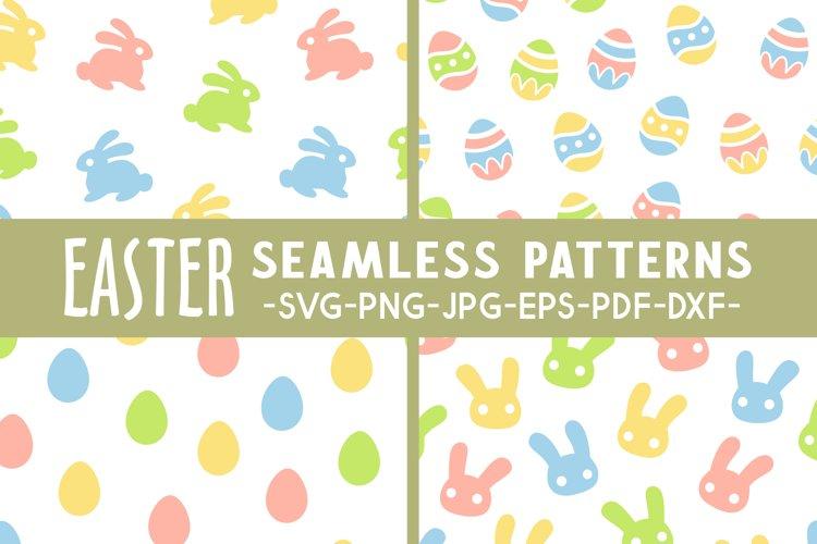 Easter seamless pattern svg Easter svg Egg svg Bunny svg example image 1