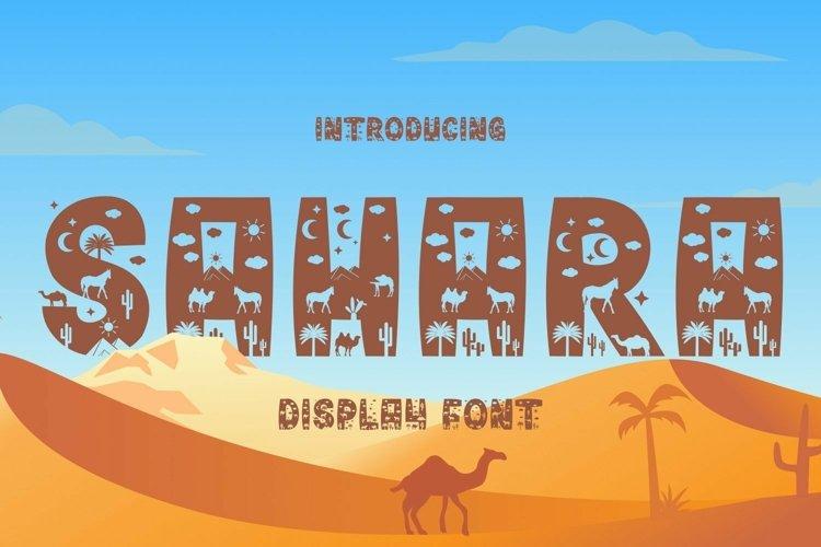 Web Font Sahara Font example image 1