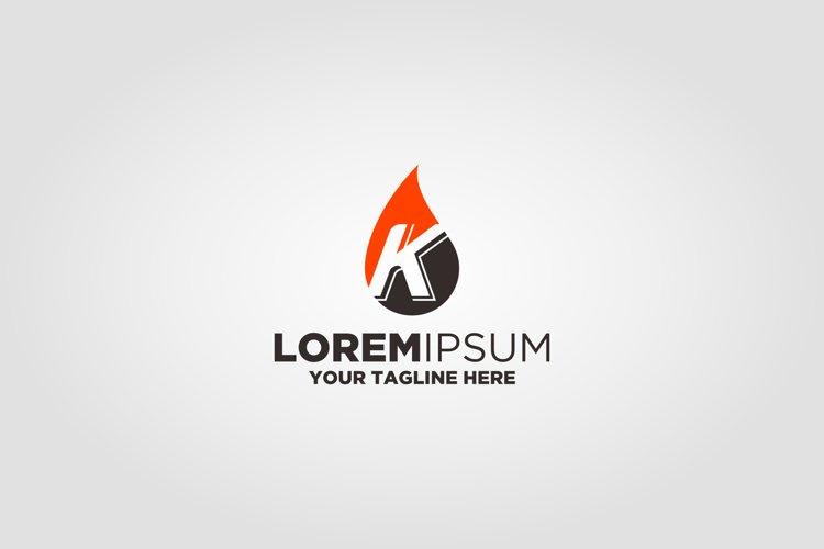 Letter K Gass Oil Logo example image 1