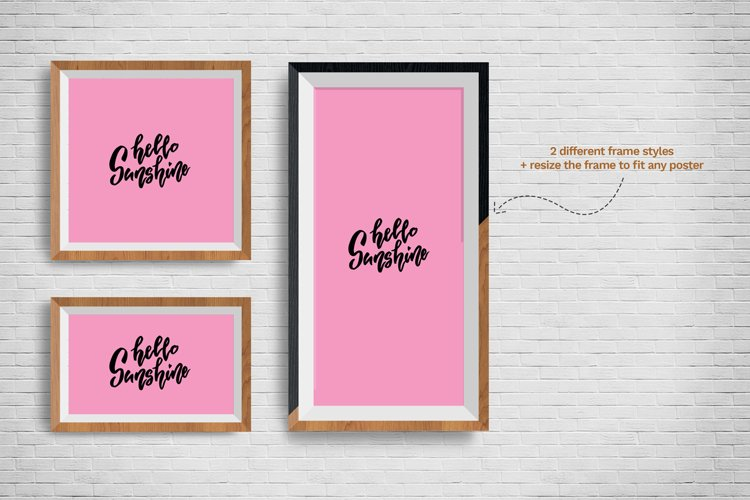 Posters Frames Mockups example 3