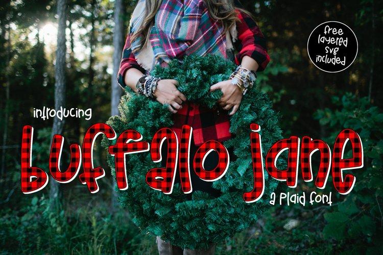 Buffalo Jane a Plaid Font