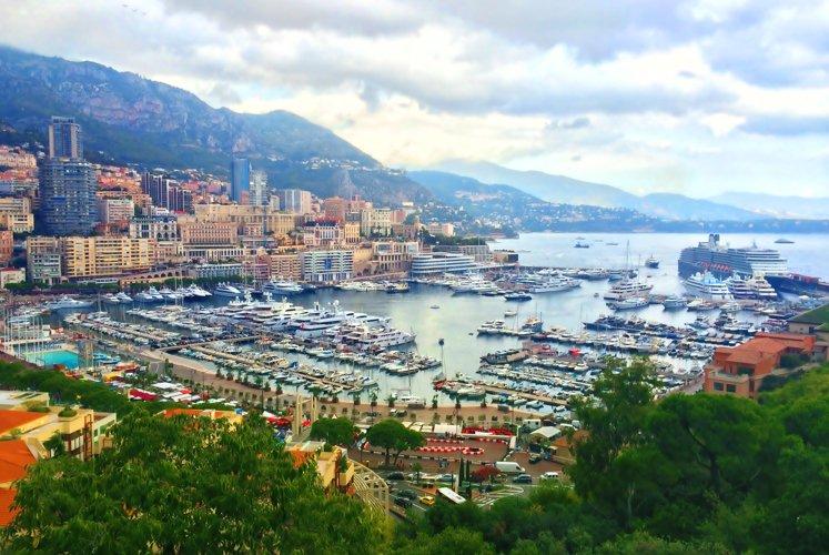 French riviera. Monaco. Monte Carlo. harbour  example image 1