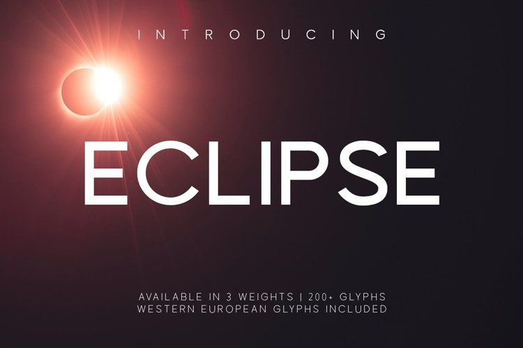 Web Font Eclipse example image 1
