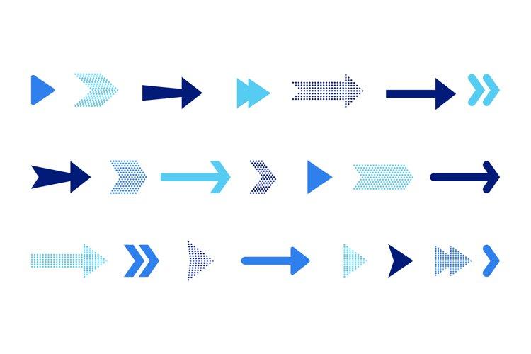Arrow icons set example image 1