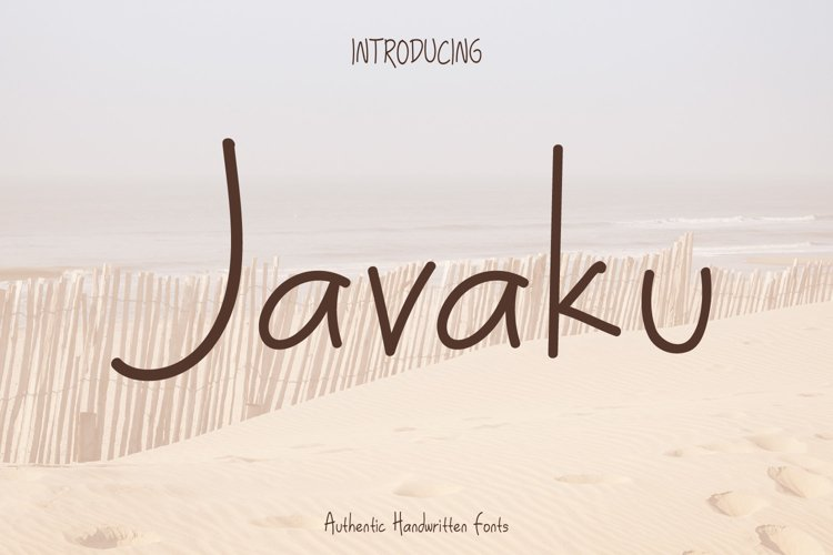 Javaku Handwritten Display Typeface Fonts example image 1