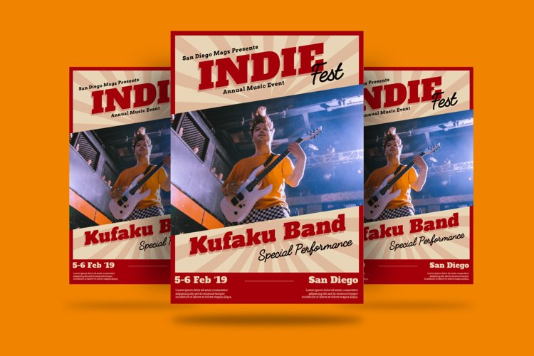 Indie Fest Flyer example image 1