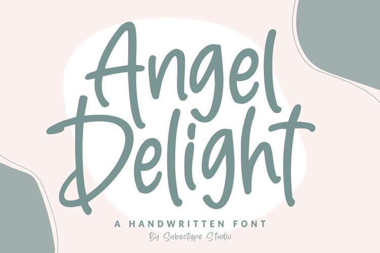 Angel Delight - Handwritten Font example image 1