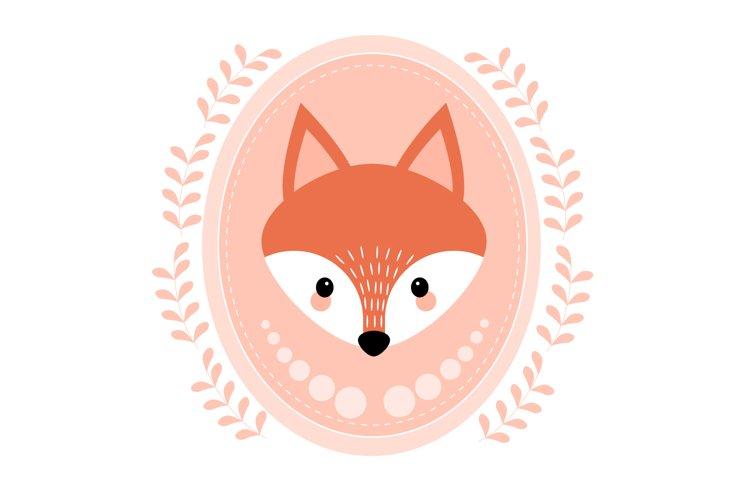 Cute fox svg, Fox illustrations example image 1