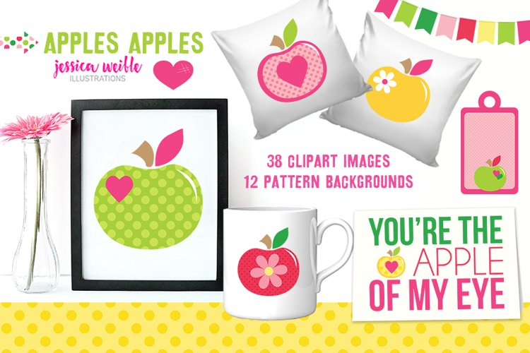 Apples Apples Clipart Graphics Collection