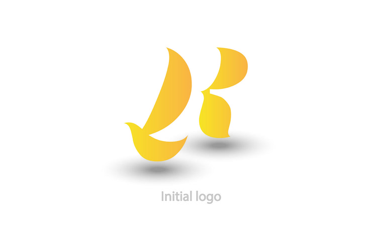 initial letter r . like wing, or bird , vector illustration example image 1