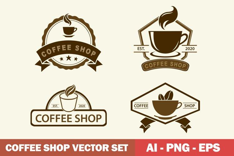 Coffee Shop Logo Vector set