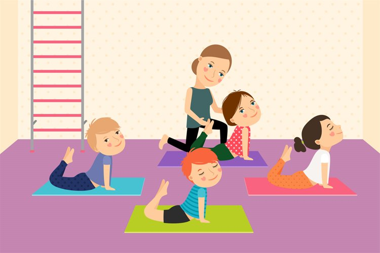 Kids yoga with Instructor. example image 1