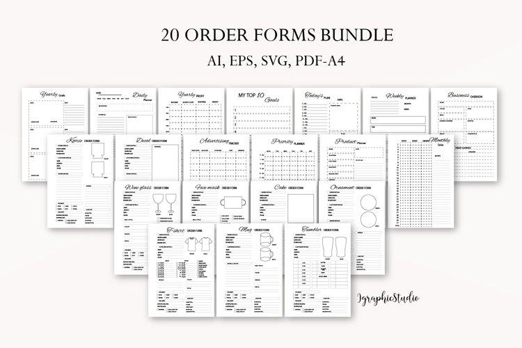 Order form bundle, Crafters business bundle, T-shirt form