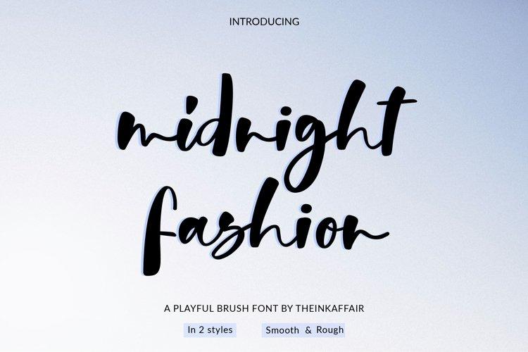 Midnight Fashion Font example image 1