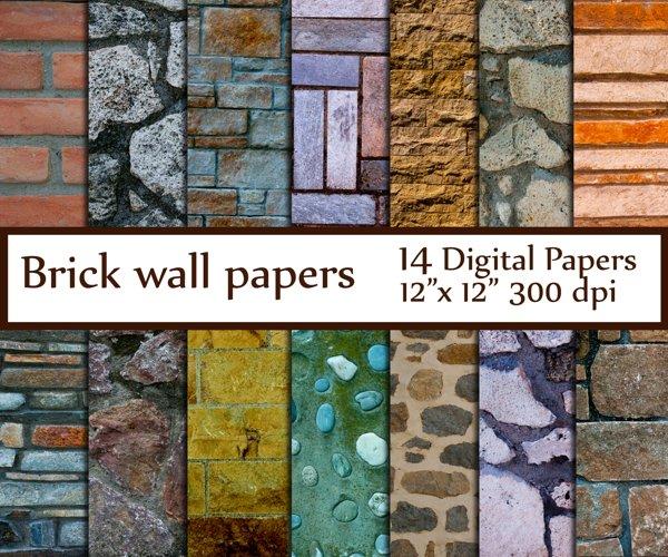 Brick Digital Paper example image 1