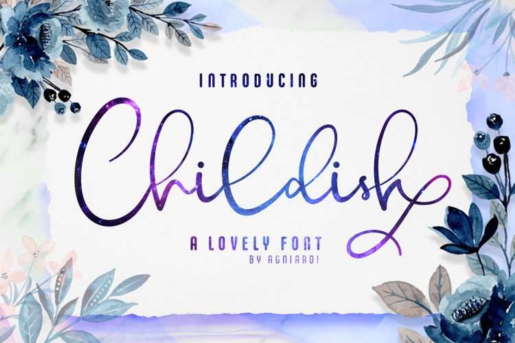 Childish - A Lovely Font Calligraphy example image 1