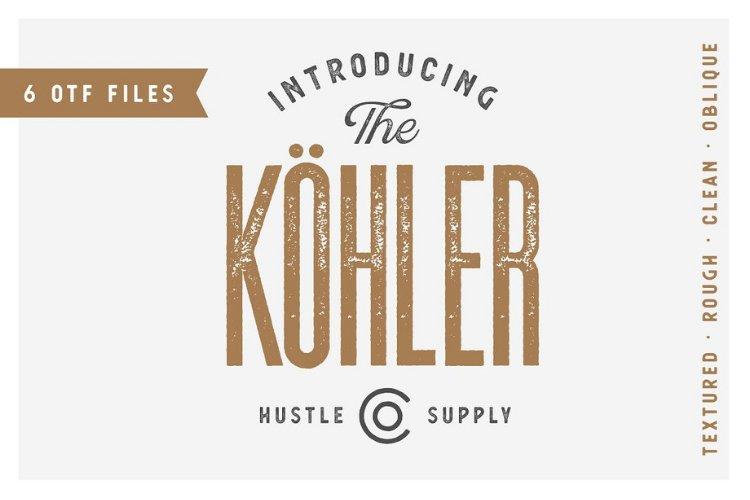 Köhler | Ultra Condensed Family - Font Family example image 1