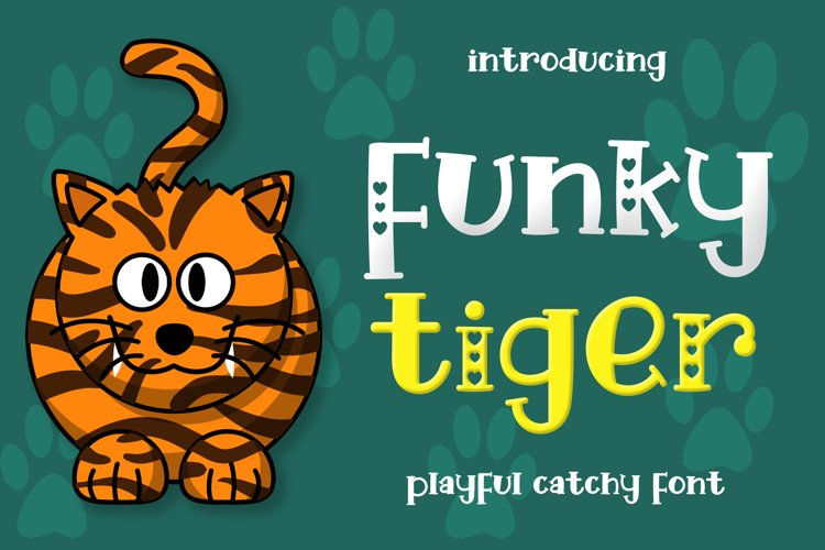 Funky Tiger - Playful Display Font example image 1