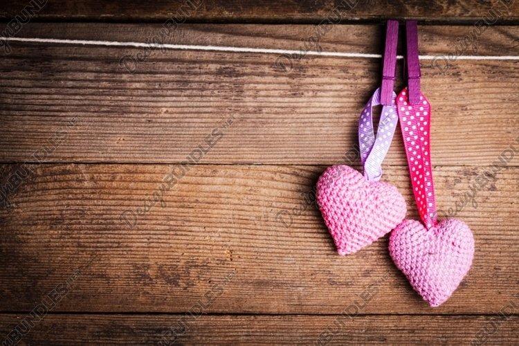 Crochet valentine hearts example image 1