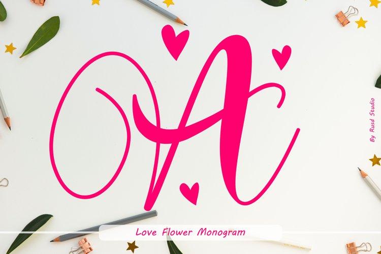 Love Flower Monogram example image 1