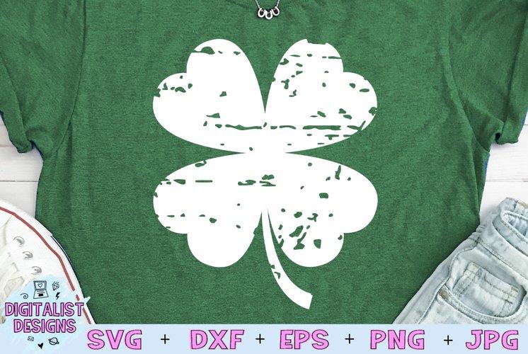 St. Patricks Day SVG | Clover SVG | Distressed