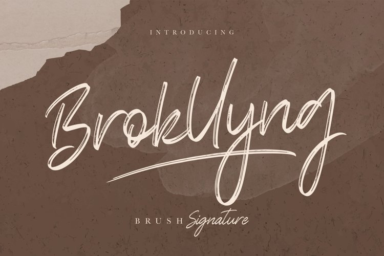 Brokllyng Brush Signature example image 1