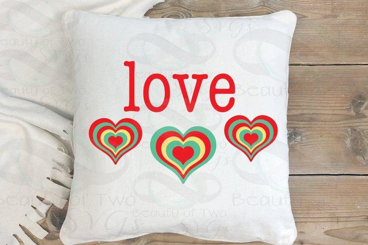 Valentine Love Retro svg Valentines Day Vintage svg cut file example image 1